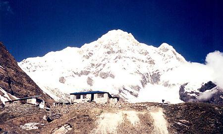 Annapurna sud, urcând de la MBC la ABC, foto Marius