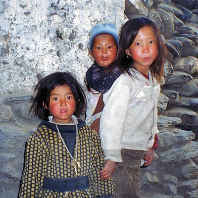 Copii, Kagbeni, Mustang, foto Marius
